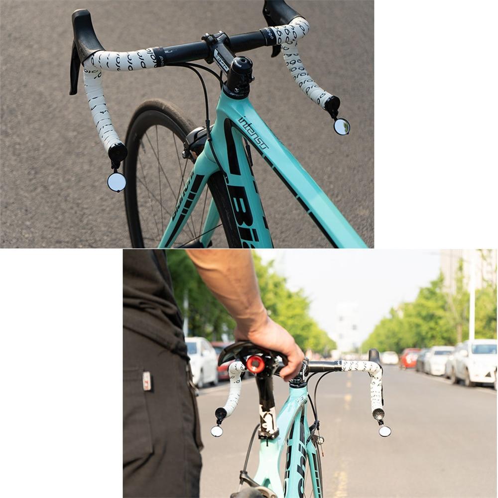 Drop Bar Bike Mirrors Rearview Mirror 360º Rotatable For Handlebar End Foldable