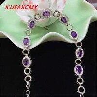 KJJEAXCMY Natural Amethyst Bracelet Jewelry Wholesale S925 Sterling Silver Female Models