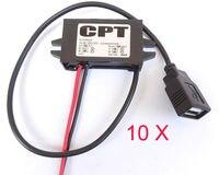 10PCS Converter Waterproof 15w DC/DC USB Interface Buck 12V (8V 22V) TO 5V 3A