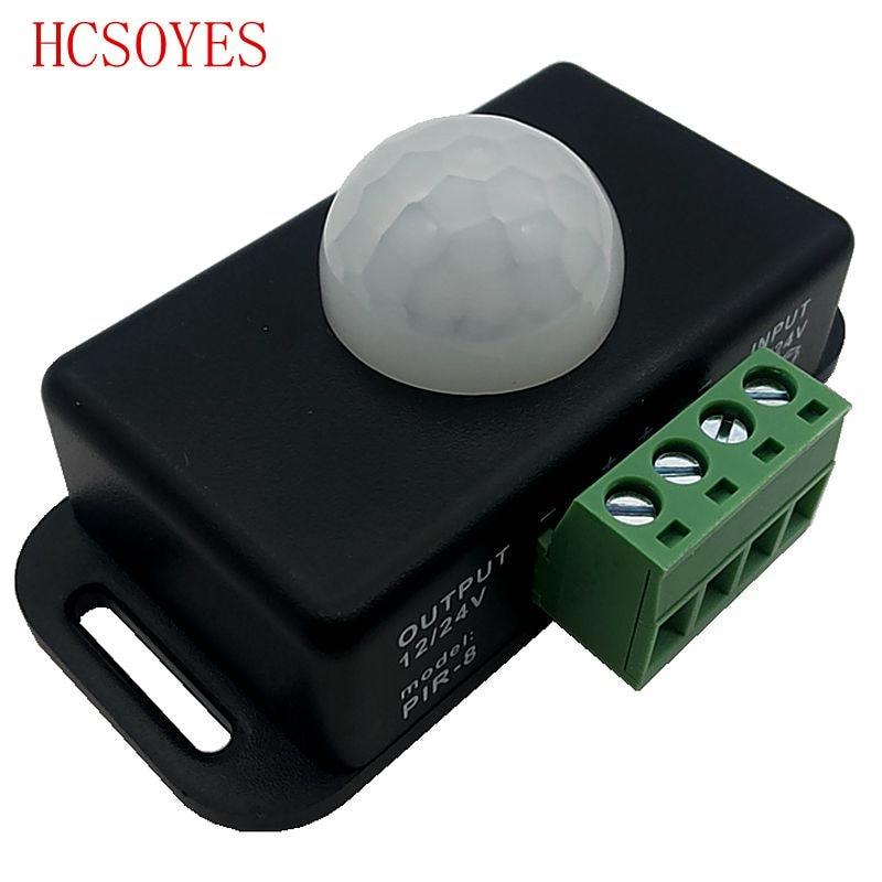12v 24v Mini Pir Motion Sensor Detector Switch For Led