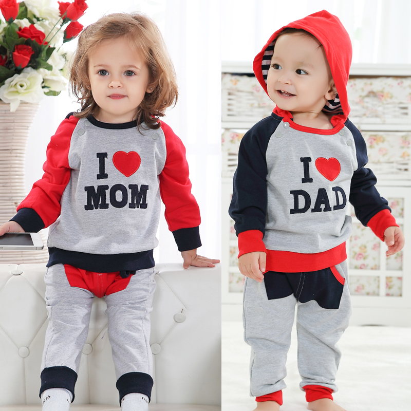 Infant Autumn Clothes 0 1 Year Old Baby Clothes Twins Set -2833