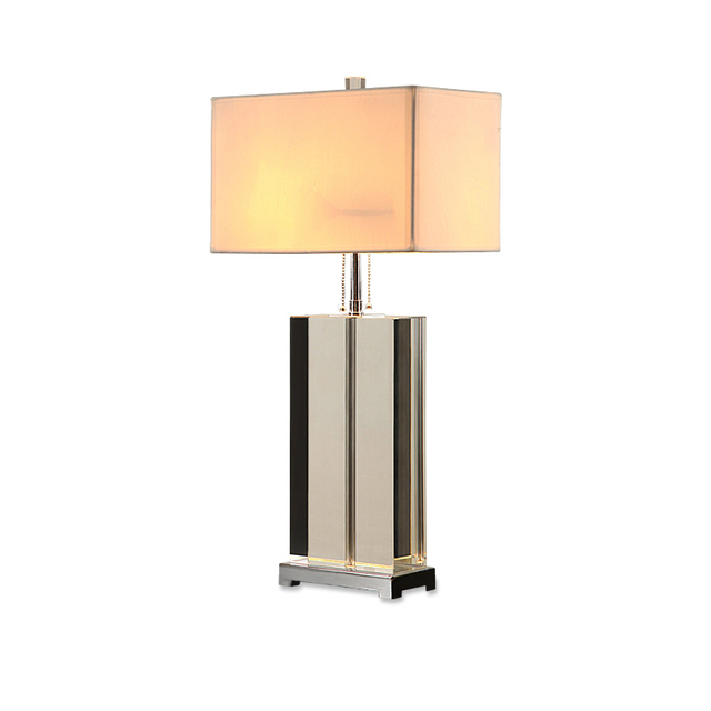 Luxury Modern Table Lamp Crystal Table Lamp Fabric Lampshade Living