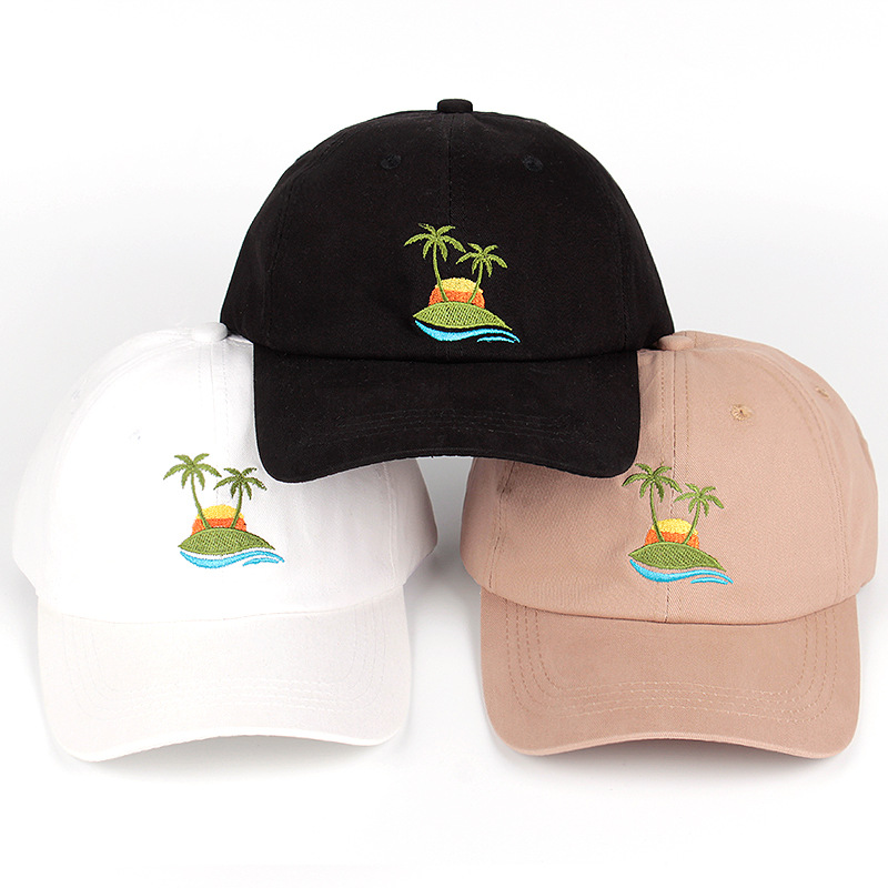 which in shower casual unisex palm tree dad hat adjustable cotton coconut baseball cap hip hop women summer snapback