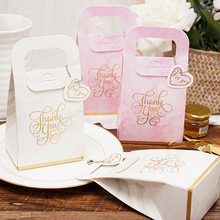 25pcs/lot New Handheld Candy Box with Bead chain Packing box Wedding Favors Gift bags Party Guests Supplies Boxes