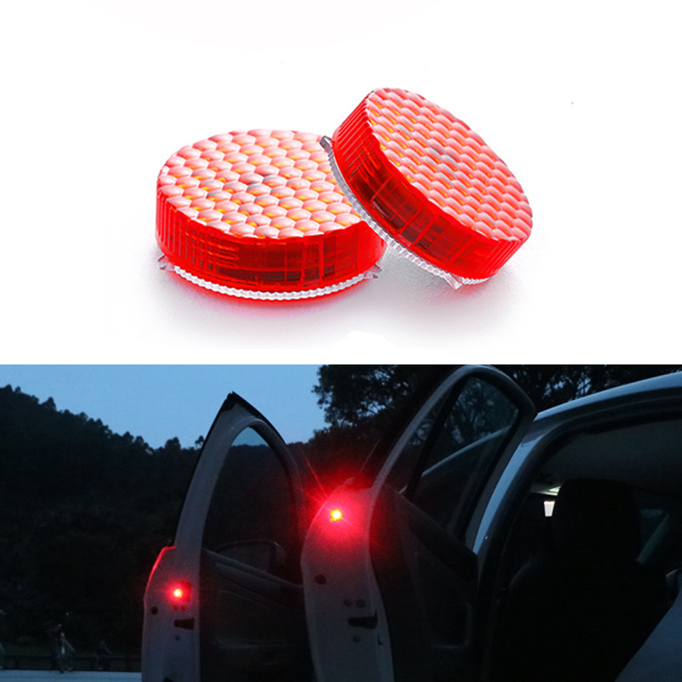 Honest Car Door Warning Light Strobe Flashing Led Universal Wireless Door Open Safety Flicker Anti Rear-end Collision 2pc /set Back To Search Resultsautomobiles & Motorcycles