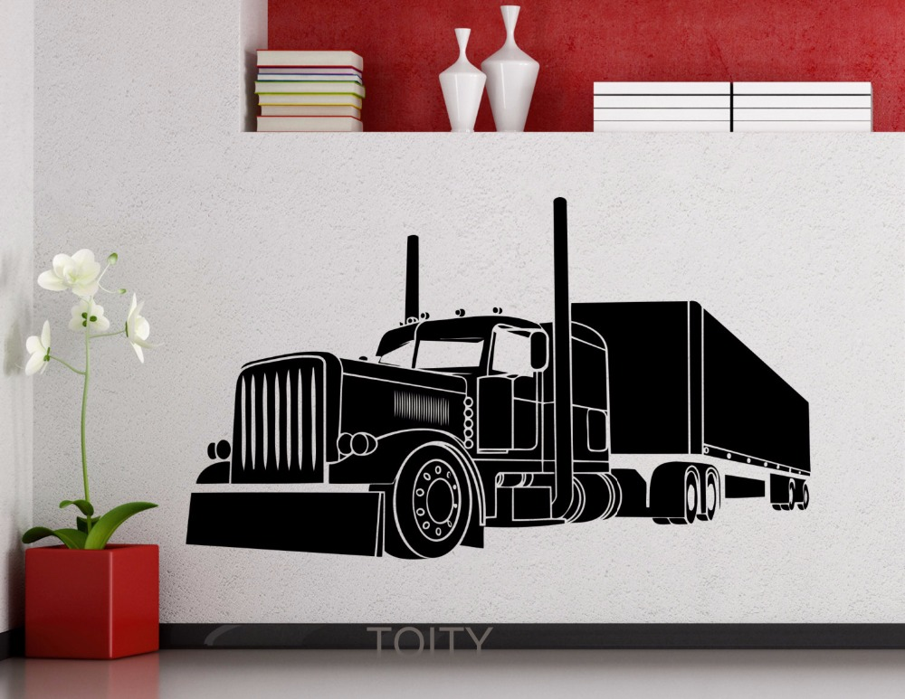 Big Truck Vinyl Decal Long Vehicle Car Automobile Wall Sticker Home ...