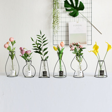Windy Minimalist Nordic Style Ins Iron Vase Dried Flower Racks Ornaments Floor Artificial Flowers A