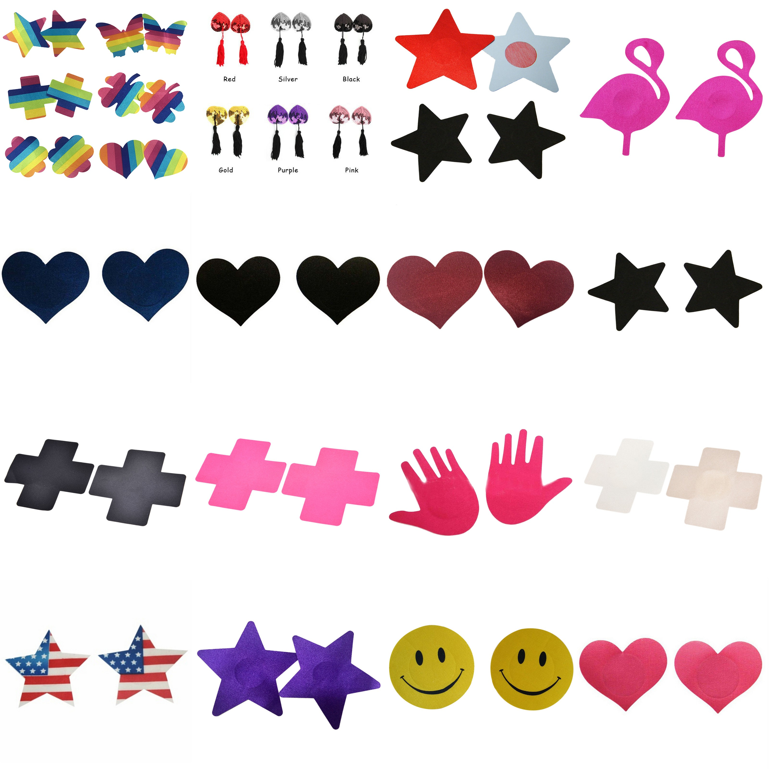 1 Pair Sexy Couple Gifts Women Lingerie Sequin Tassel Breast Bra Nipple Cover Pasties Stickers Petals Clothing Accessories