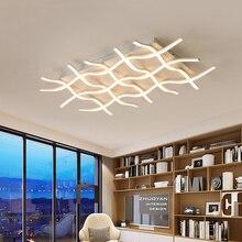 white/black wave Modern LED Ceiling Lights Aluminum Lamp for living room bedroom lamparas de techo colgante moderna