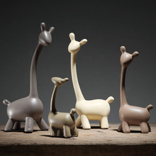 Minimalist ceramic giraffe deer home decor crafts room decoration handicraft ornament porcelain figurines wedding decorations