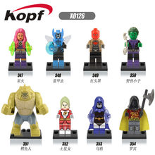 Single Sale Killer Croc Red Hood Raven Starfire Saturn Girl Robin Blue Beetle Bricks Building Blocks Children Gift Toys X0126(China)