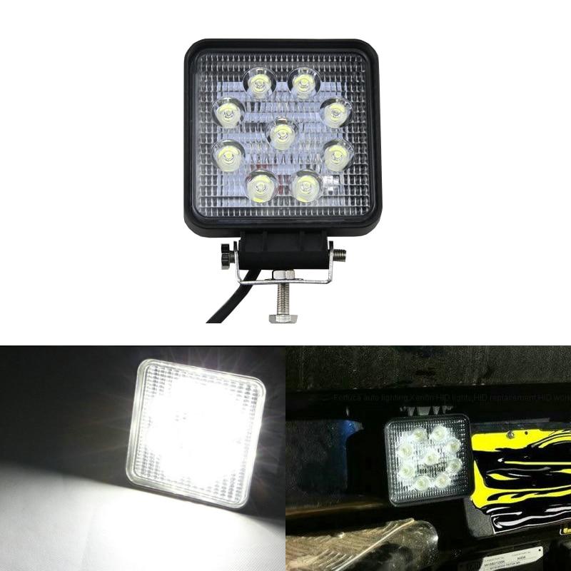 4Inch 27W Led Work Light Bar 12V 24V 4X4 offroad Car boat Truck ATV Tractor Auto Led Bar Spotlight Led Beam Auto Led Lamp
