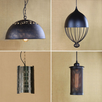 Loft Pendant Lights Industrial Lamp Hanglamp Vintage Pot Droplight Metal Dining Room Suspension Bar Pendant Light