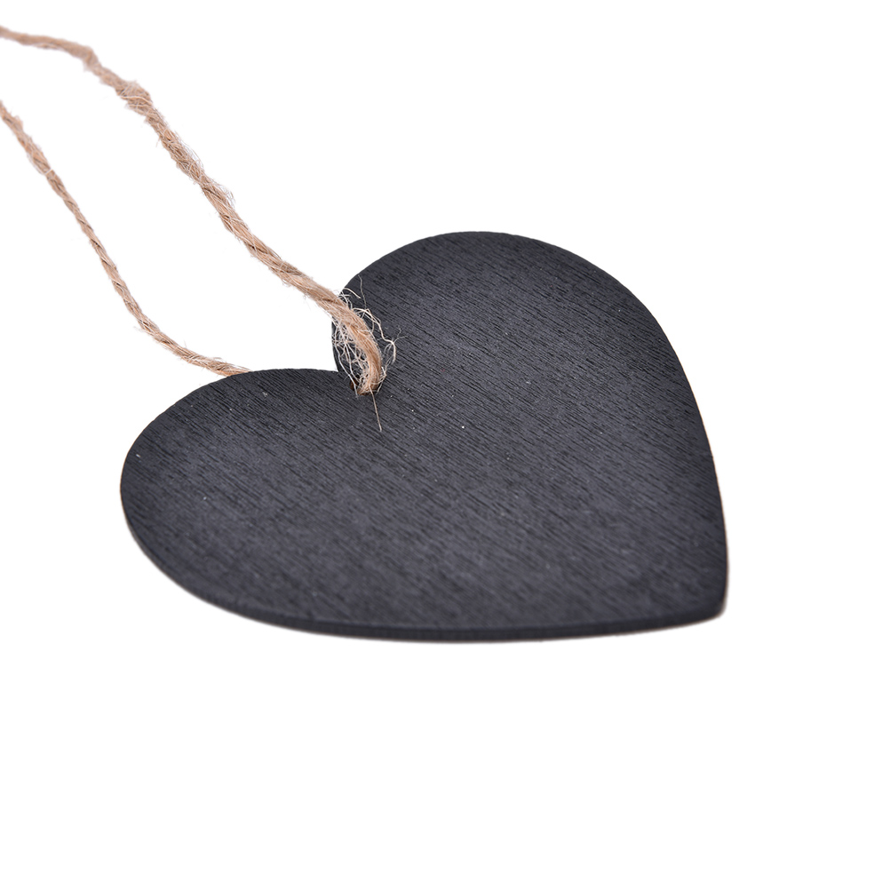 Peerless 1PC Wooden Blackboard Message Board Rectangle Heart Shaped HangingChalkboard Wordpad