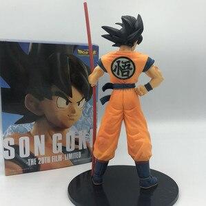 Image 4 - Dragon Ball Z Goku 50. Rocznica Ruyi stoi Ver. Figurka DBZ pamiątkowe kufry Vegeta model super saiyan 28cm