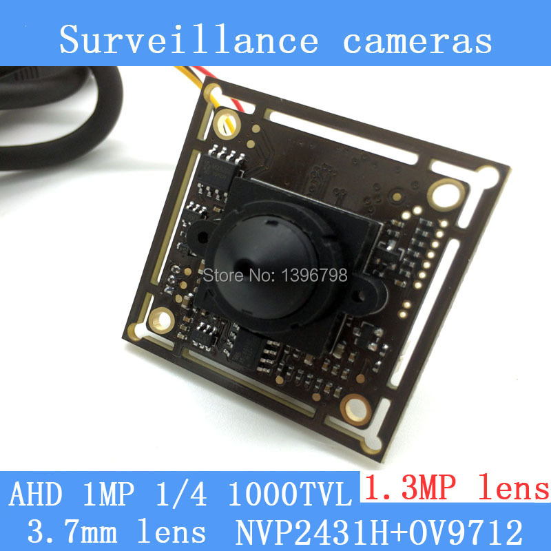 1MP Coaxial 1/4 CMOS NVP2431H + OV9712 chip AHD 1000TVL CCTV surveillance cameras Module night vision 1.3MP 3.7mm pinhole lens freeshipping rs232 to zigbee wireless module 1 6km cc2530 chip