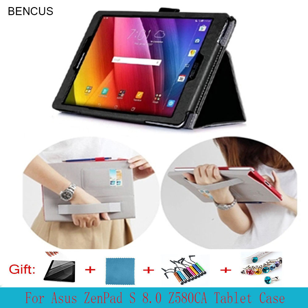 BENCUS Zenpad S 8.0 Stand Leather Case For ASUS Zenpad S 8.0 Z580 Z580C Z580CA Magnet Tablet Leather Case +Pen