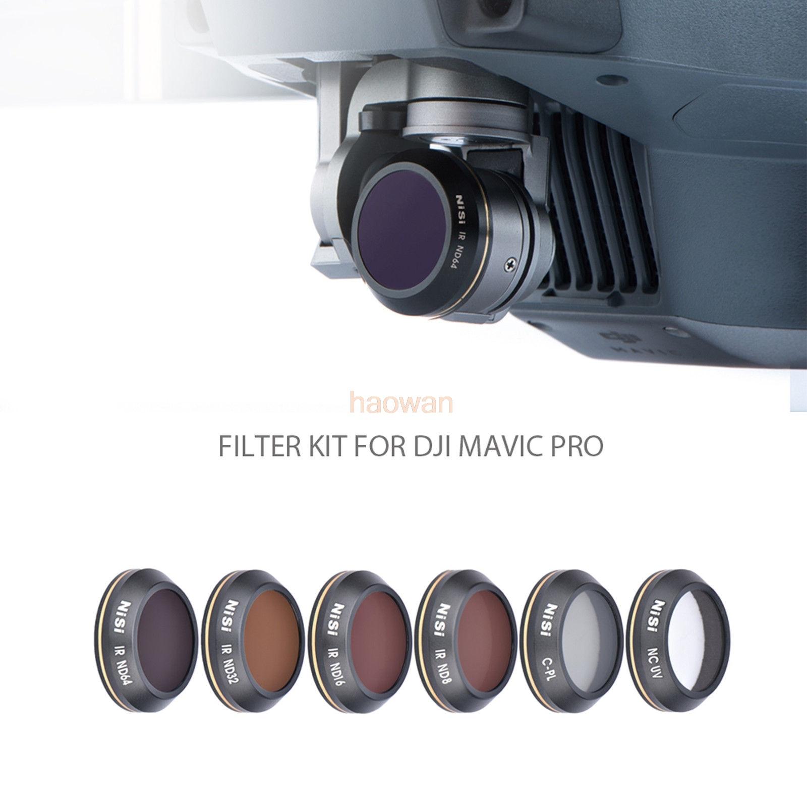Cpl + mcuv + nd8 + nd16 + nd32 + nd64 nd protecteur de filtre d'objectif pour caméra DJI mavic pro