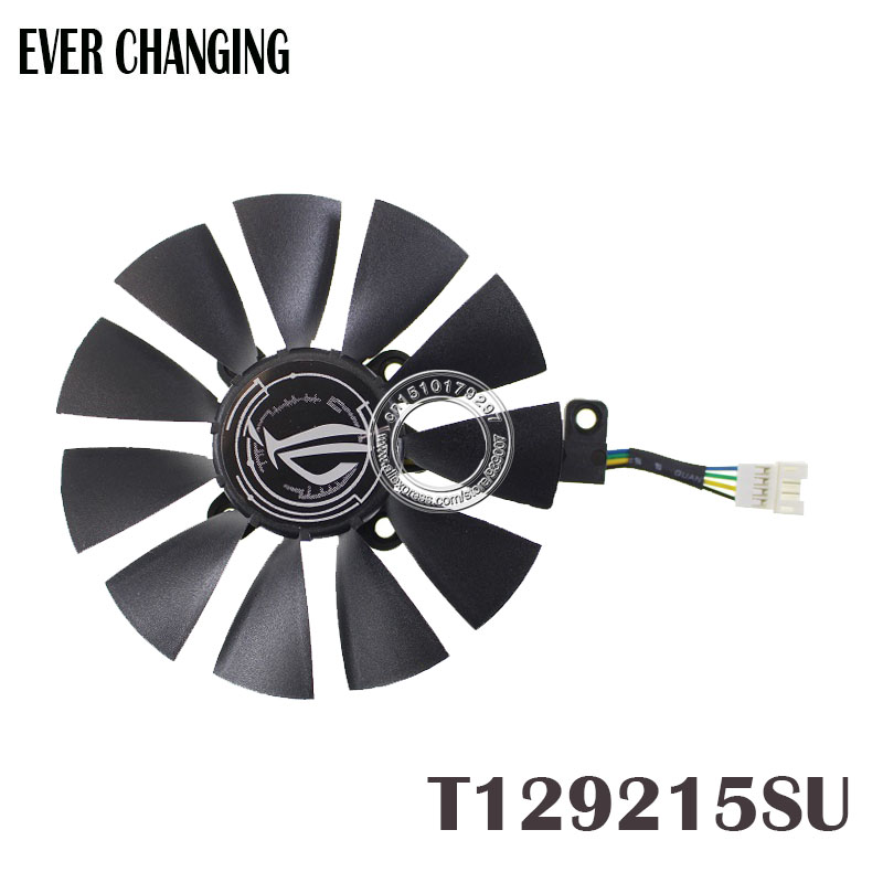 87MM Everflow T129215SU DC 12V 0.50AMP 4Pin 4 Wire Cooling Fan For ASUS GTX980Ti R9 390X 390 GTX1070 Graphics Card Fans