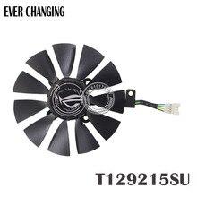 87 мм Everflow T129215SU DC 12 V 0.50AMP 4Pin 4 провода Охлаждающий вентилятор для ASUS GTX980Ti R9 390X390 GTX1070 Графика плата, вентиляторы
