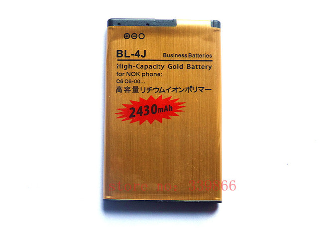 GOLD 2430MAH HIGHCAPACITY REPLACEMENT BATTERY FOR NOKIA C6/C6-00  Lumia 620 BL-4J battery