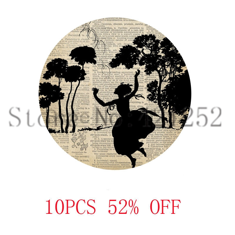 Papercut Art Pattern Woodland Whimsical Silhouette Fairy Tale necklace keyring bookmark cufflink earring