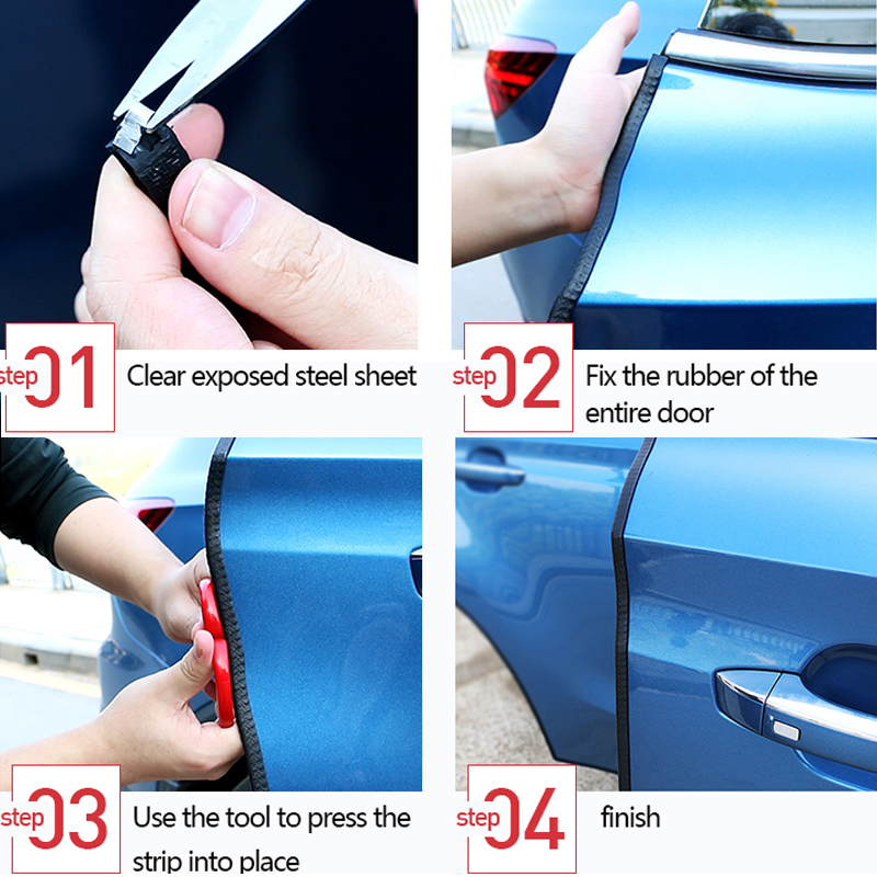 Image 5 - 10m Car Door Edge Protector Strip Auto Sealing Door Guard Trim Automobiles 5m Weatherstrip Stickers Universal Car Accessories-in Car Stickers from Automobiles & Motorcycles