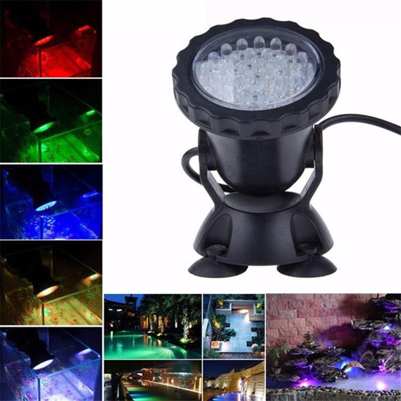 Nouveau 1 set 1/2/4 lumière étanche IP68 RGB 36 LED Spot sous-marin pour piscine fontaines étang eau jardin Aquarium