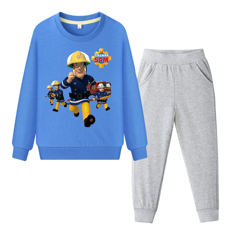 Boys' Clothing Children Fireman Sam Costume Boys 2019 Spring Sweatshirt Set Clothing Girls Hoodies Pants Sets Kids Suits Baby Tracksuits Tz002 Making Things Convenient For The People