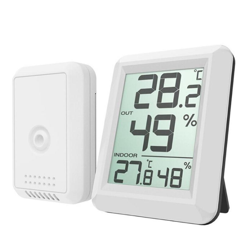 Home Wireless Hygrometer Weather Station LCD Digital Indoor Outdoor Thermometer Temperature Humidity Monitor wireless weather station indoor hygrometer indoor