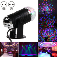 TSLEEN Promotion 1PC Voice Control Crystal Magic Ball RGB LED Stage Lamp Lumiere Home Sound Control