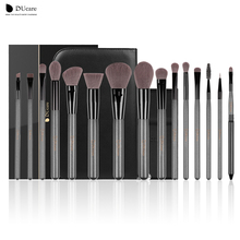 DUcare 15Pcs Makeup Brushes Sets Professional brush set with Portable Mirror high quality cosmetic make up brush set with bag