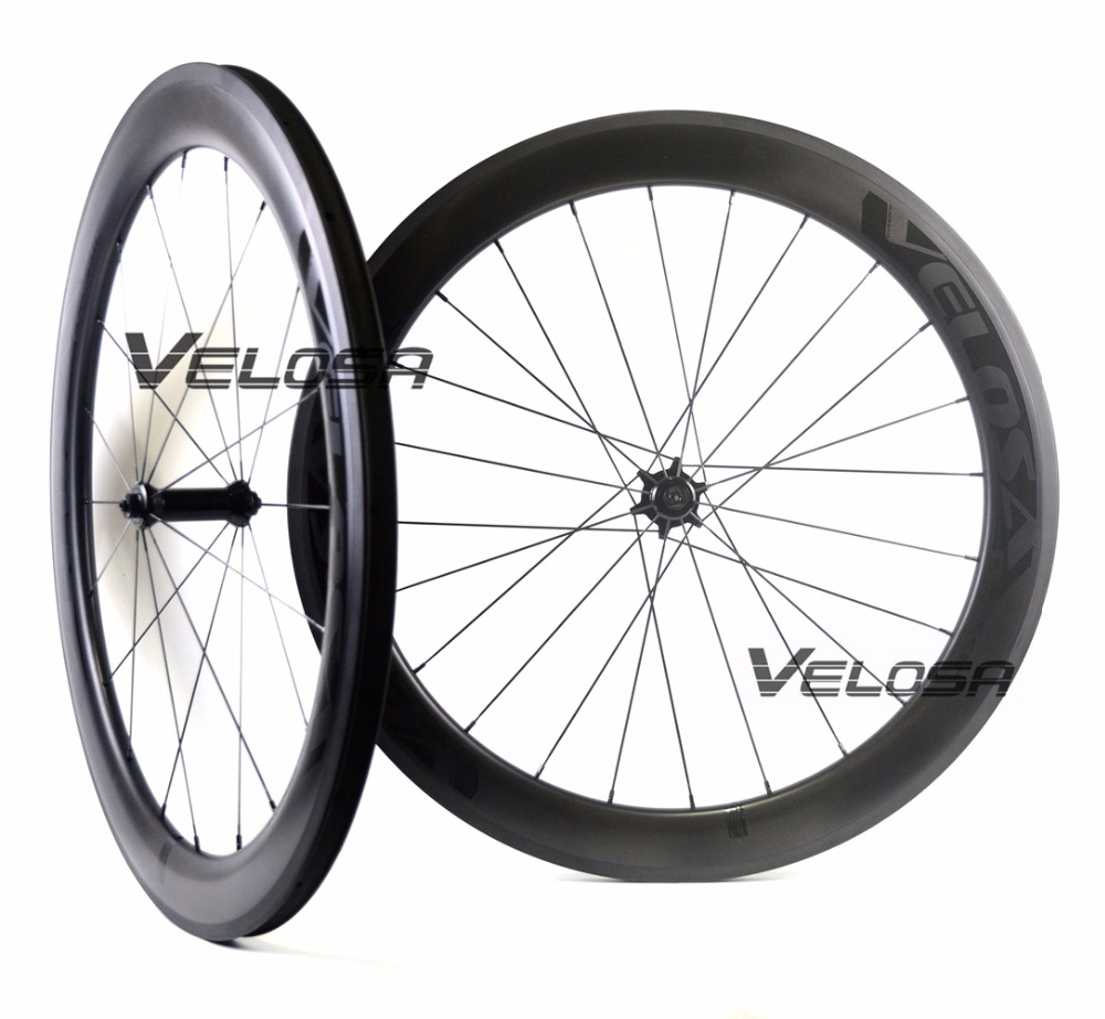 Velosa Race 60 black series road bike carbon wheelset,700C road bike wheel,60mm clincher/tubular,Ceramic bearings, super light velosa supreme 50 bike carbon wheelset 60mm clincher tubular light weight 700c road bike wheel 1380g