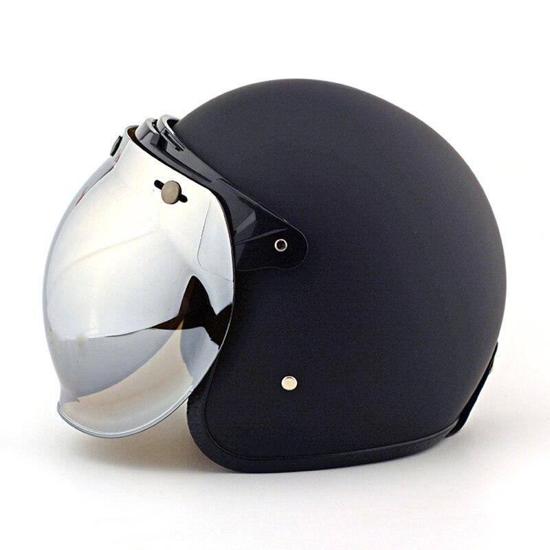 Retro Motorcycle Helmet Vintage Bubble Lens Jet Pilot Helmet Visor Scooter Moto Helmets Bubble Visor Goggles