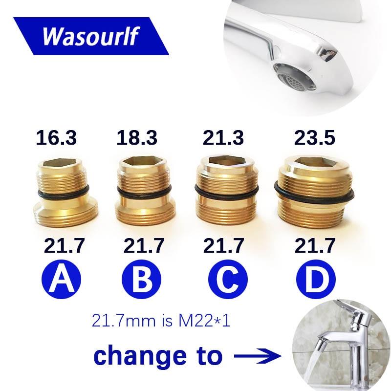 WASOURLF Male External Thread Transfer M22 Male Thread Connector Outer Adapter Shower Brass Faucet Accessories