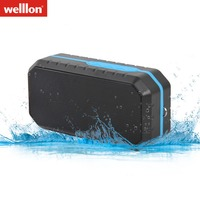 Welllon Mini Wireless Portable Stereo Outdoor Speaker Waterproof Bluetooth Speaker With Fm Radio Tf Card Voice