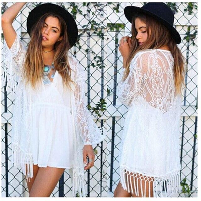 Aliexpress.com : Buy New Fashion Sexy Kimono Cardigan Women Hollow ...