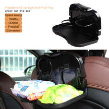 Folding Foldable Auto Car Back Seat Backseat Table Drink Food Cup Meal Snack Tray Holder Stand