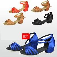 Sapatos de dança de salão sapatos de dança latina crianças sapatos de Presente de Natal Cetim oxfords De Camurça baixa resistência ao desgaste de Baixo preço por atacado Quente