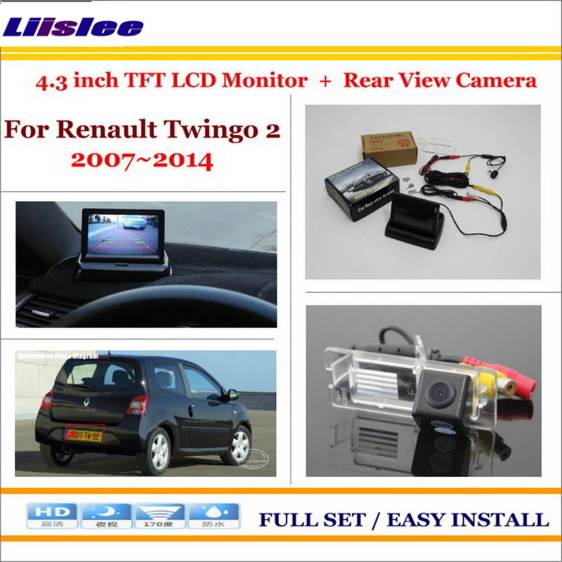 Liislee For Renault Twingo 2 II 2007~2014 Car Reverse Backup Rear Camera + 4.3
