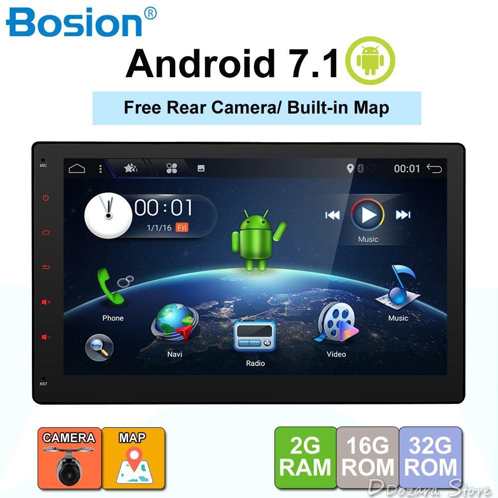 2din 7,1 дюймов Android 10,1 3G Wi-Fi автомобильный Радио gps навигация 2 din автомобиль стерео радио Автомобильный gps Bluetooth USB/SD Универсальный плеер