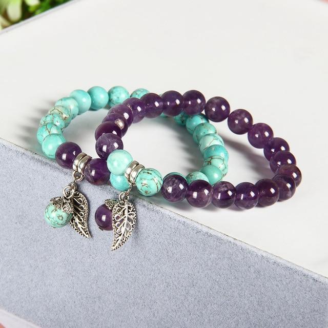 Bracelet Amethyste Amazonite