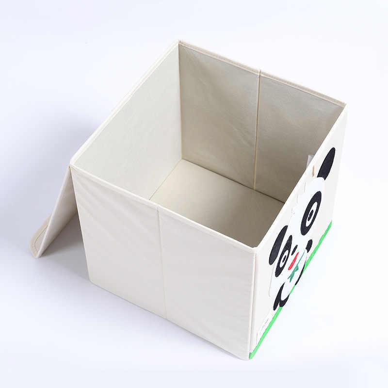 3D Borde Animal Dos Desenhos Animados Dobrável Caixa De Armazenamento Grande para o miúdo Brinquedos de Classificação de armazenamento caixa organizador roupas livro para casa organizador bin