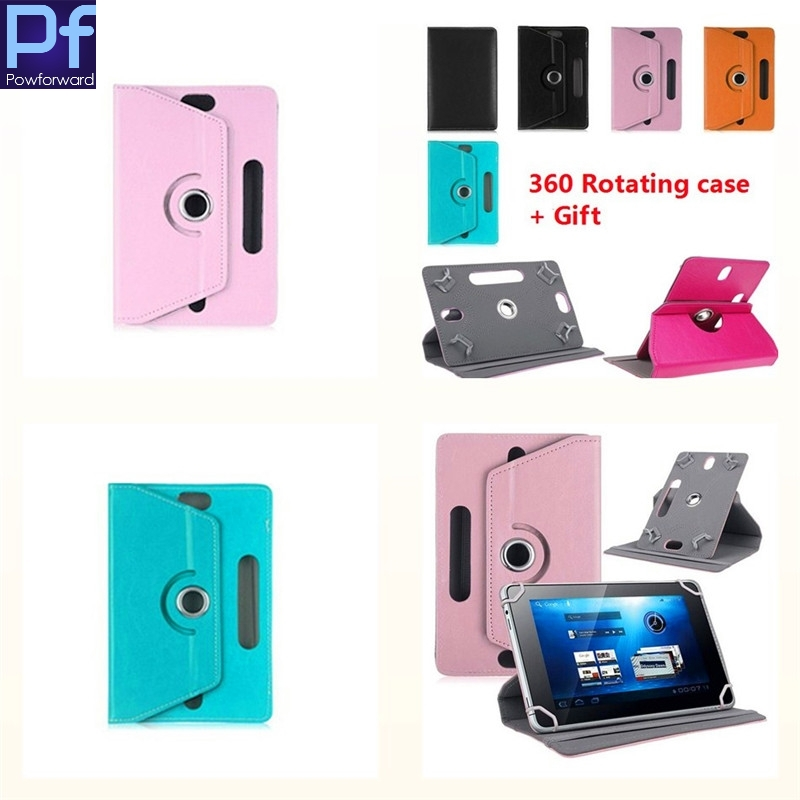 For TeXet X-pad STYLE 7.1 3GTM-7058  7 inch 360Degree Rotating Universal Tablet PU Leather cover case Free OTG
