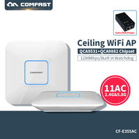 Comfast 1200Mbps 2.4G/5.8G Dual Band 802.11AC Indoor Ceiling Mount Access Point Wifi Repeater Router 48V POE Qualcomm AP