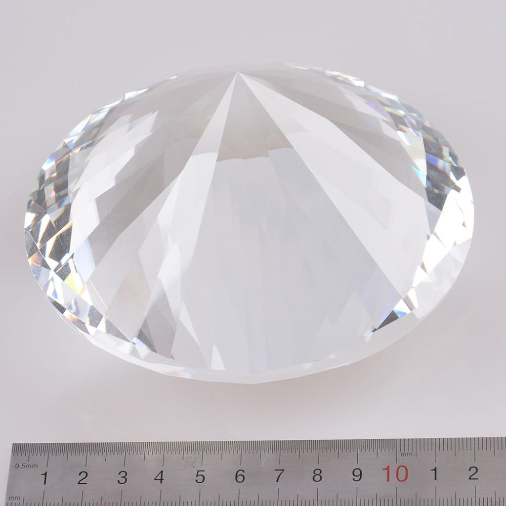 Skickas från USA Clear K9 120mm Crystal Diamond Paper Paperweight - Heminredning - Foto 3