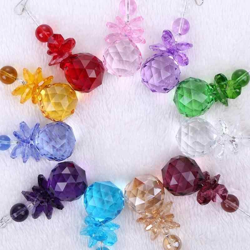 ใหม่คริสตัล Ball Chandelier Prisms จี้ชิ้นส่วน Suncatcher Rainbow Maker แขวน Drop เครื่องประดับตกแต่งบ้านสวน Suncatchers Gadgets