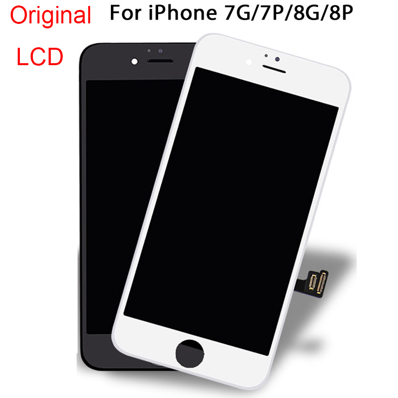100% Original High Quality LCD Display Mobile Phone LCDs for iphone 7 8 plus Glass Touch Screen Assembly Replacement Digitizer