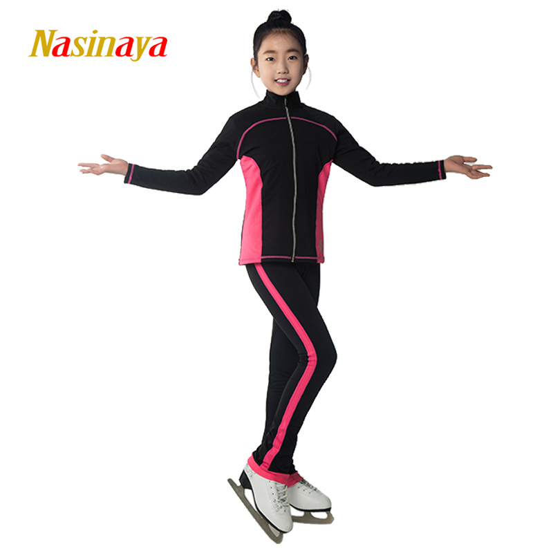Здесь продается  Customized Figure Skating Suits Jacket and Pants Long Trousers for Girl Women Training Patinaje Ice Skating Warm Gymnastics 21  Спорт и развлечения