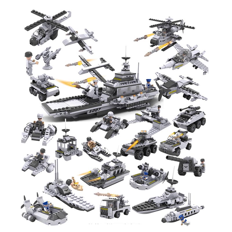 ФОТО 743pcs/lot 8 In 1 Total 25 different type Educational 3D Puzzle Assembling Model Building Kits Toys for Kids